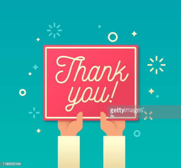 thank you - gratitude stock illustrations