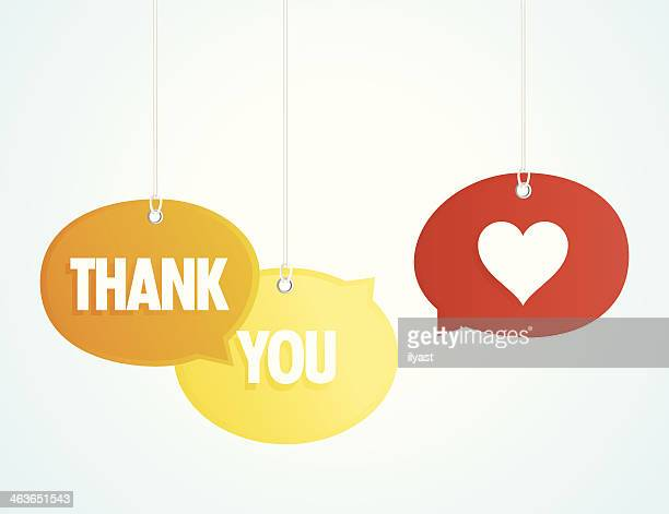thank you - thanks quotes stock illustrations