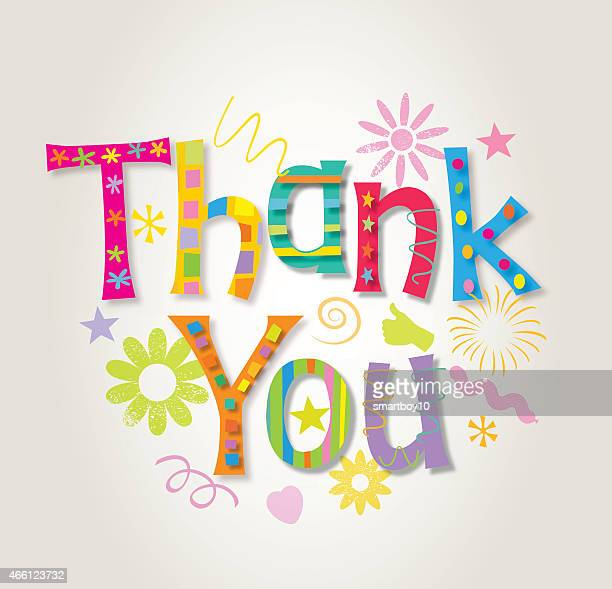 thank you - greeting card stock illustrations, clip art, cartoons, & icons