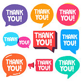 Thank you! Vector illustrations on white background for print, t shirt.