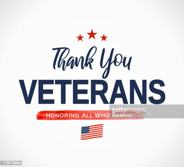 thank you veterans card. honoring all who served. veterans day. vector - veterans day stock illustrations, clip art, cartoons, & icons