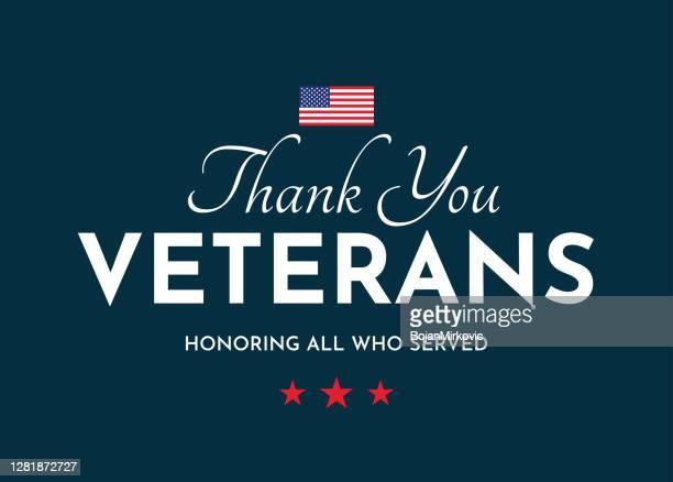 退役軍人カードをありがとう。退役軍人の日。奉仕したすべての人を称える。ベクトル - 米退役軍人の日点のイラスト素材/クリップアート素材/マンガ素材/アイコン素材