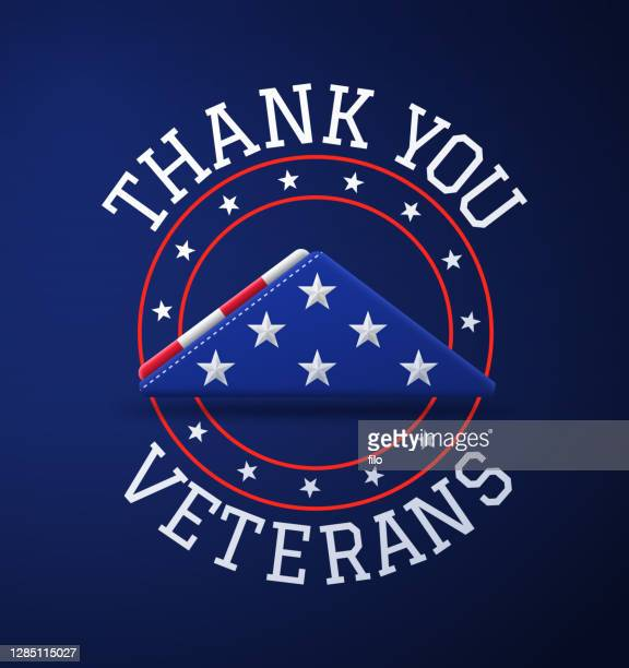thank you veterans - us military stock illustrations