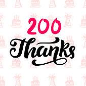 Thanks 200 followers