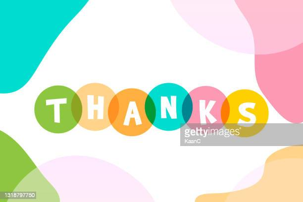 thanks lettering stock illustration with abstract backround - thanks quotes stock illustrations