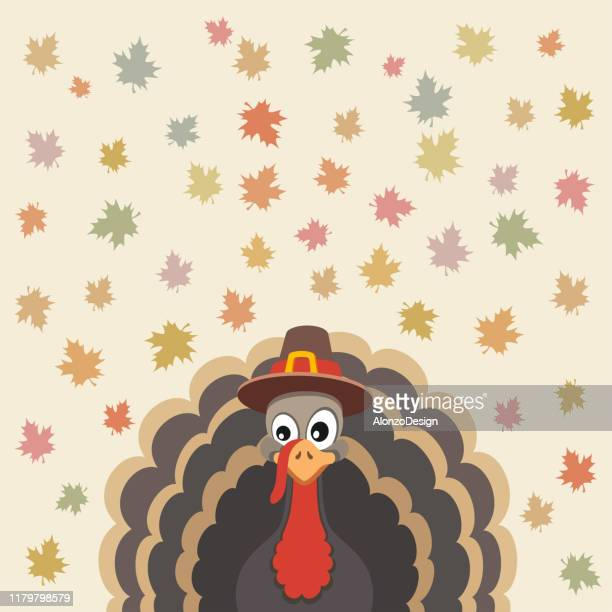 thanksgiving card design - november stock illustrations