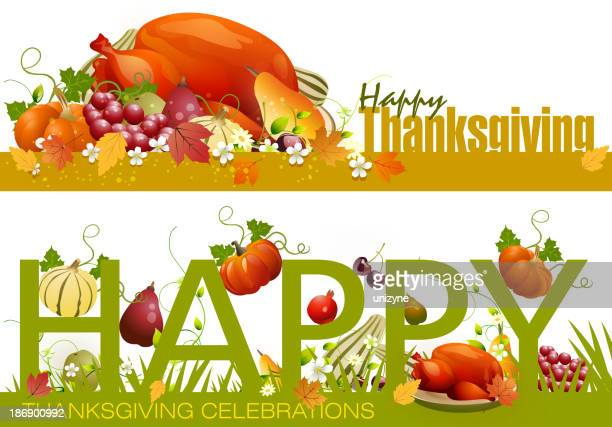 Thanksgiving Celebrations Background Banners