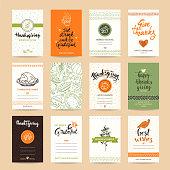Thanksgiving Congratulations Card Design Templates