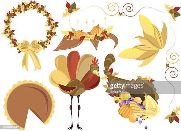 thanksgiving cut n' paste - husk stock illustrations, clip art, cartoons, & icons