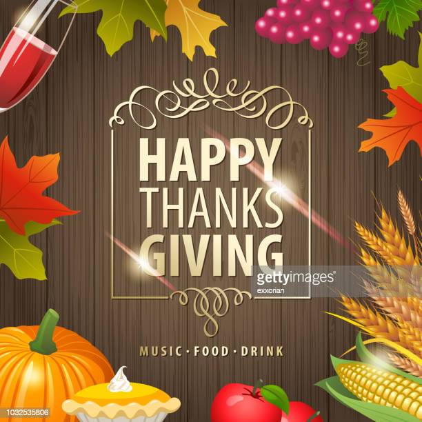 thanksgiving day celebration - meat pie stock illustrations