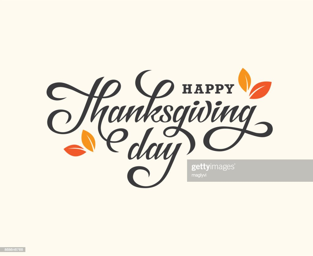 Thanksgiving Day lettering card.