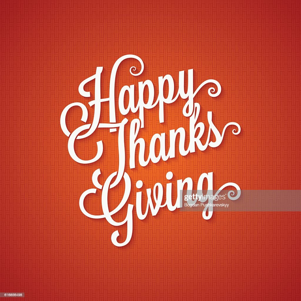 thanksgiving day vintage lettering background : Vector Art