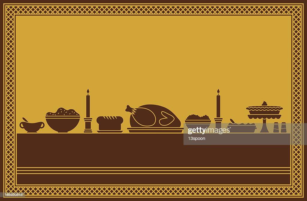 Thanksgiving Dinner Feast : stock illustration