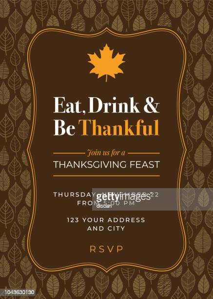 illustrations, cliparts, dessins animés et icônes de modèle thanksgiving dinner invitation. - thanksgiving