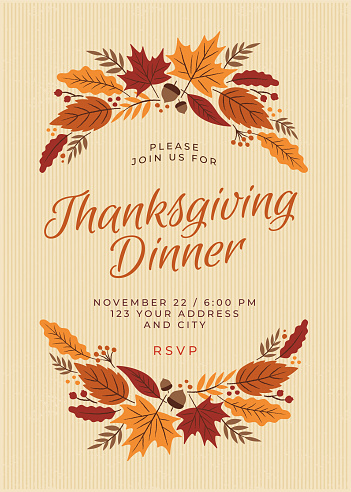 Thanksgiving Dinner Invitation Template - gettyimageskorea