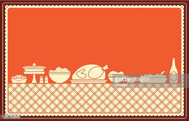 thanksgiving dinner spread - sweet bun stock illustrations, clip art, cartoons, & icons