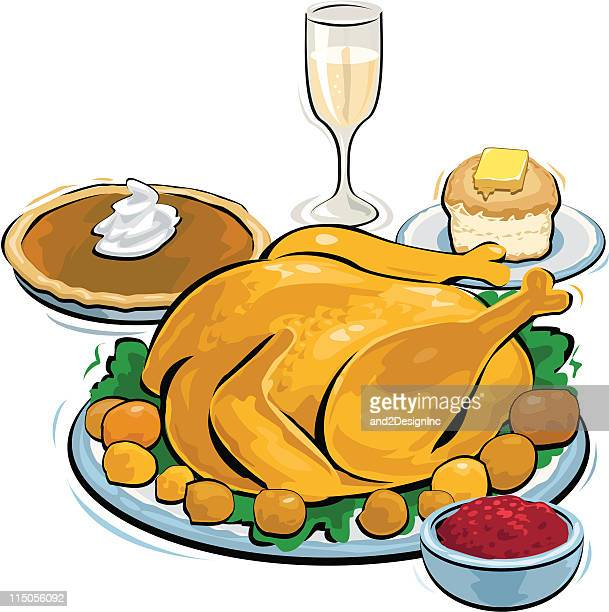 thanksgiving dinner - sweet bun stock illustrations, clip art, cartoons, & icons