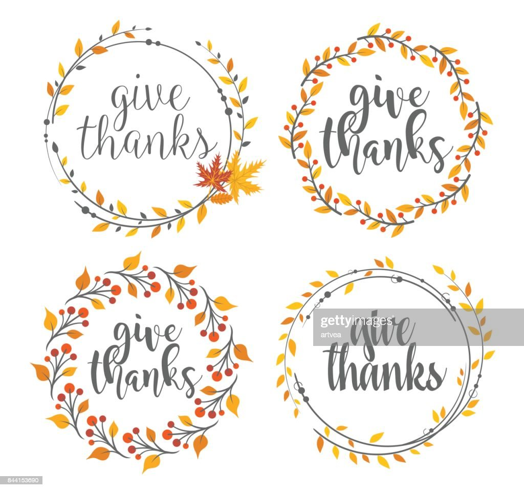 Thanksgiving greeting badges : Vector Art