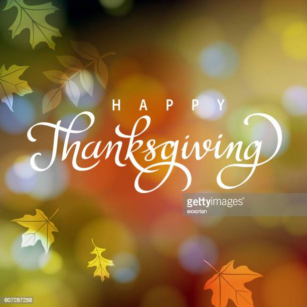 thanksgiving in autumn - thanksgiving holiday stock illustrations