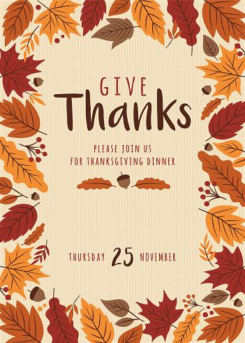 Thanksgiving invitation template. - gettyimageskorea