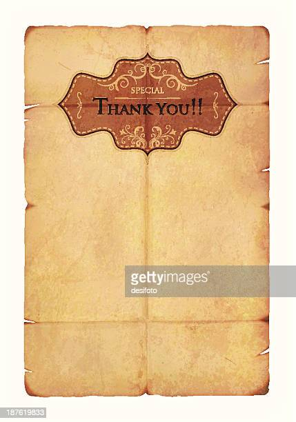 Thanksgiving Label on an old paper