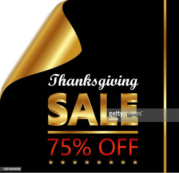 Thanksgiving Seventy Five Percent Sale On Golden Black Curled Luxury Paper