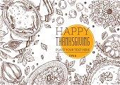 Thanksgiving Top View Dinner Frame