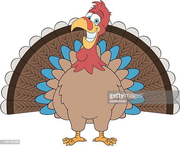 thanksgiving turkey - animal limb stock illustrations, clip art, cartoons, & icons