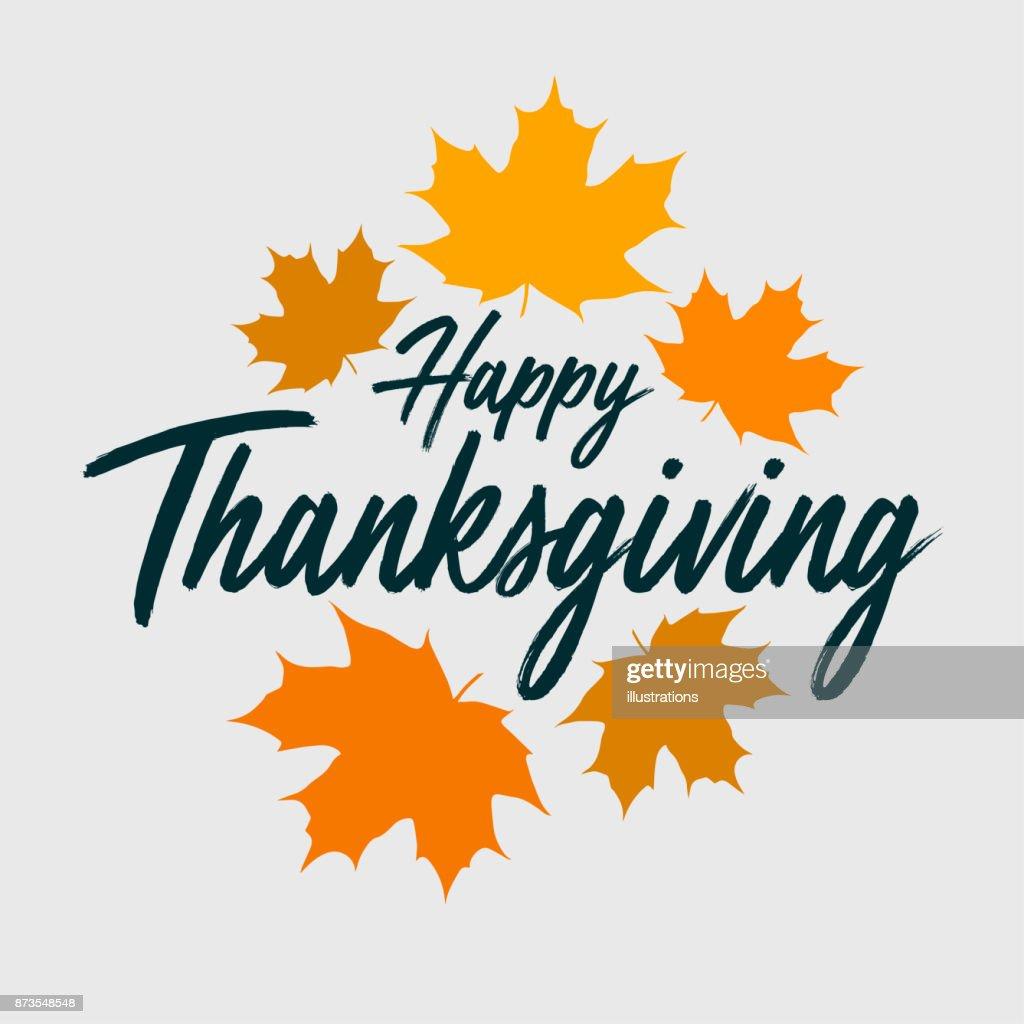 Thanksgiving typography banner