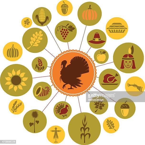 thanksgiving - pilgrim stock illustrations, clip art, cartoons, & icons