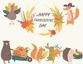 thanksgivingdayrowpinkorange