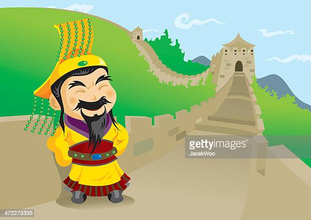 the 1st emperor of china - qin shi huang - emperor stock illustrations, clip art, cartoons, & icons