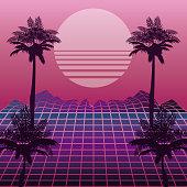 The 80s landscape style
