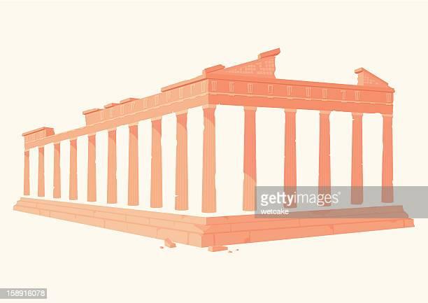 the acropolis, greece - athens greece stock illustrations