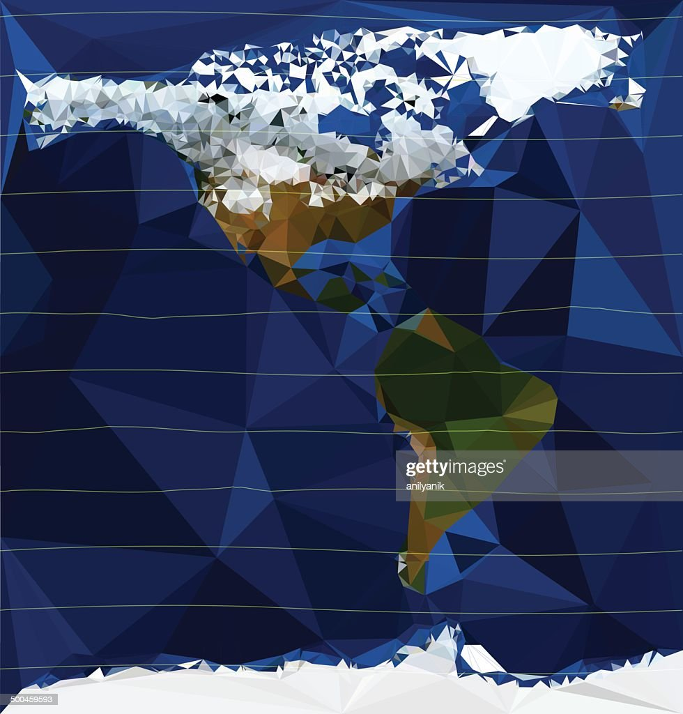 the americas - low poly