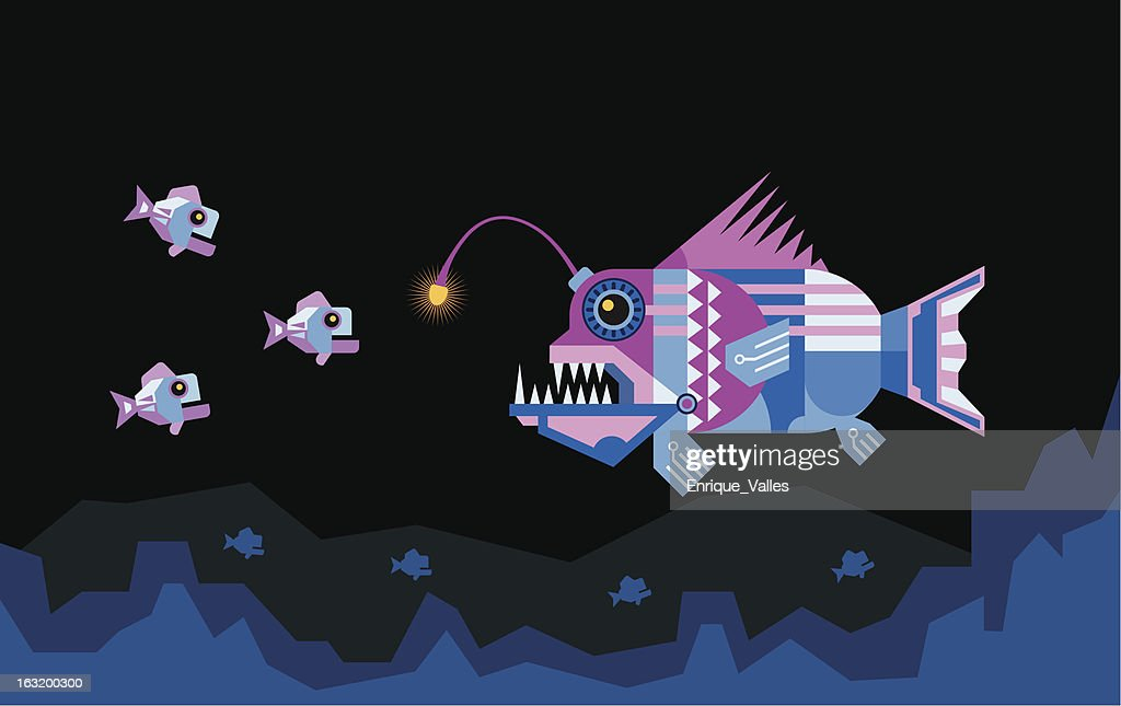 the Angler fish attracts prey
