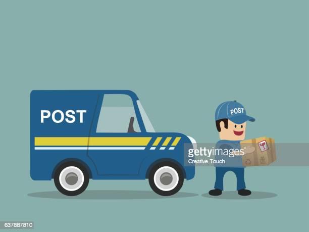 illustrations, cliparts, dessins animés et icônes de the arrival of the postman - facteur