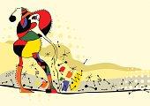 The avant-garde illustration of girl