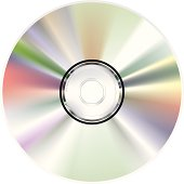 The back of a CD-ROM and its rainbow reflection