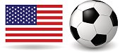 The ball on the American flag