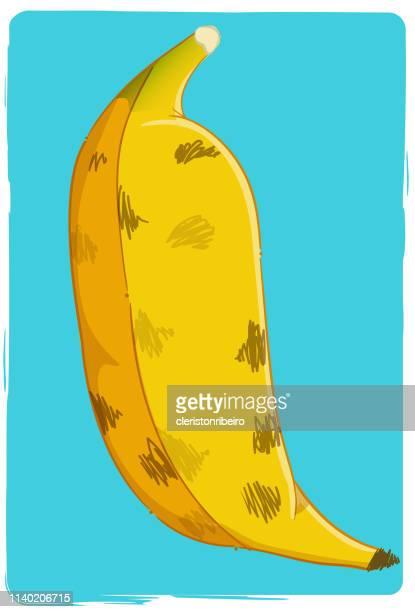 the banana - morango stock illustrations