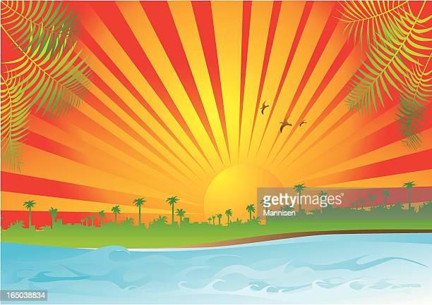 ilustraciones, imágenes clip art, dibujos animados e iconos de stock de la playa-vector - salina estado natural de terreno