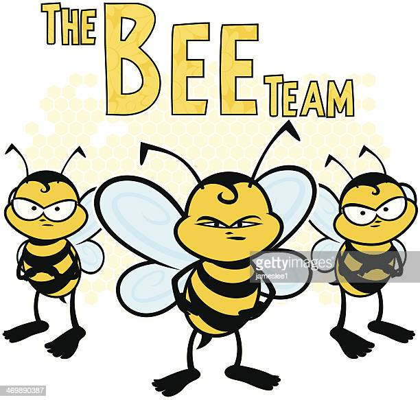 the bee team - bumblebee stock illustrations, clip art, cartoons, & icons