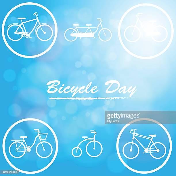 Le Bicycle day dans la zone bleue en arrière-plan