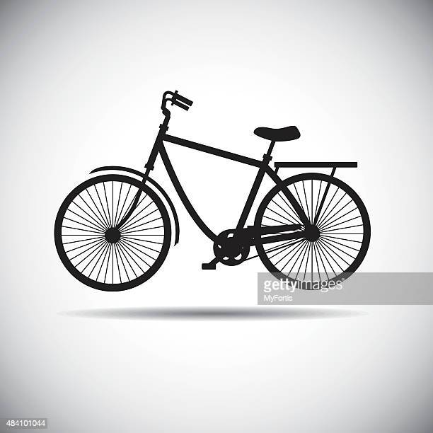 the bicycle icon - dividing line road marking stock illustrations, clip art, cartoons, & icons