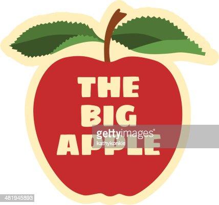 the big apple vector art getty images. Black Bedroom Furniture Sets. Home Design Ideas