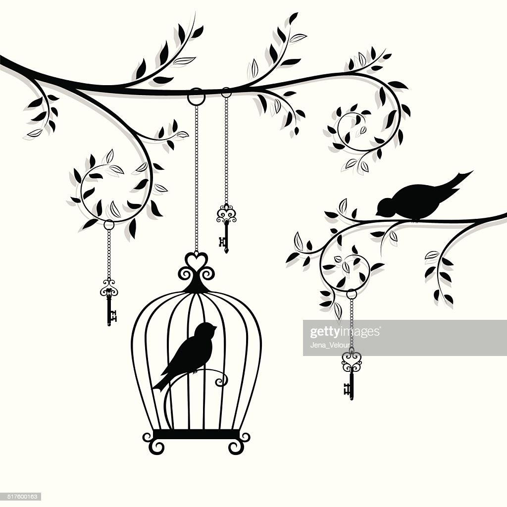 The bird in the cage