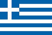 The blue and white national flag of Greece