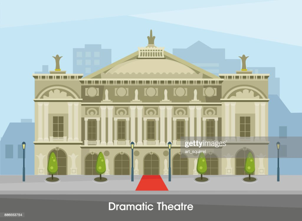 The building of the historic Drama Theater in Paris