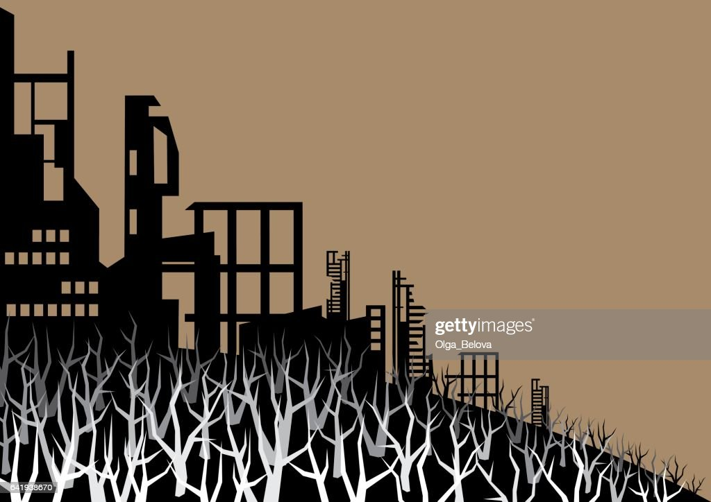 the burned city